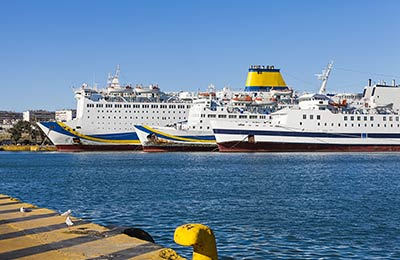 Ferry haven Lesbos