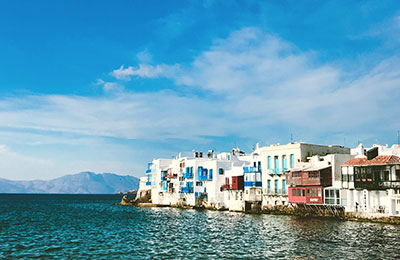 Veerboot naar Mykonos
